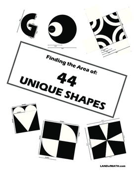 Geometry: Finding the Area of 44 Unique Shapes