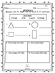 Geometry First Grade Math Bundle 1st CCSS Monster Theme