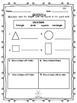 Geometry First Grade Math Bundle 1st CCSS Monster Theme
