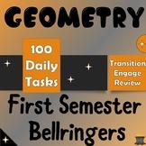 Geometry First Semester Bellringers