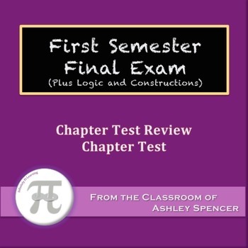 Geometry - First Semester Final Exam (Plus Logic and Const
