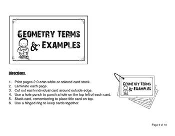 Geometry Flash Cards
