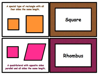 Geometry Flash Cards For Third Grade