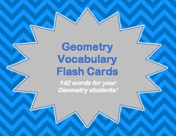 Geometry Flash Cards for High School Students