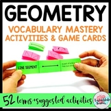 Geometry Vocabulary Games and Activities