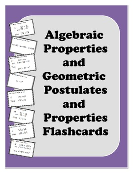 Geometry Flashcards: Beginning Properities and Postulates