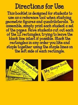 Geometry Flip-Flap Resource Booklet- Freebie!!