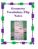 Geometry Flip Notes- Common Core Math Vocabulary for 4th Grade