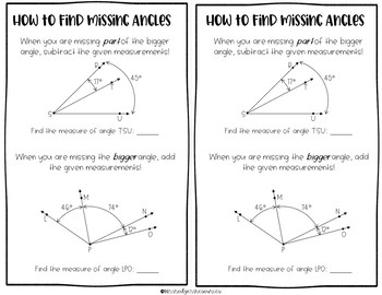 Geometry (Lines & Angles) Packet for Interactive Notebook