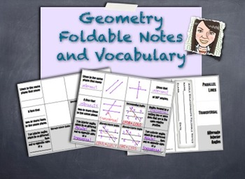 Geometry Foldables 2 Interactive Note-Taking Guides! Visual Vocabulary