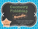 Geometry Foldables Bundle for 7th Grade 7.G.1, 7.G.2, 7.G.3, 7.G.4, 7.G.5, 7.G.6