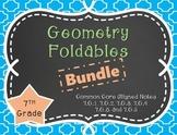 Geometry Foldables Bundle for 7th Grade 7.G.1, 7.G.2, 7.G.3, 7.G.4, 7.G.5, 7.G.6