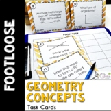 Geometry (Lines & Angles) Task Cards - Footloose Math Game