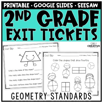Geometry Exit Slips for 2nd Grade