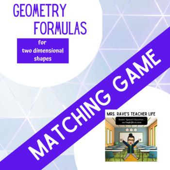 Geometry Formulas Matching Game