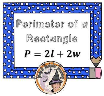 Geometry Formulas Posters Area Perimeter Volume Powerpoint PDF Smartboard CUTE!