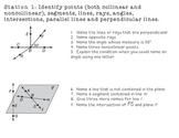 Geometry Foundations Station Review w/ Answer Key