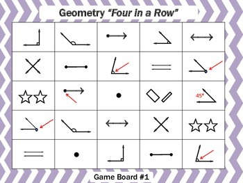 "Geometry ""Four In a Row"" Game"