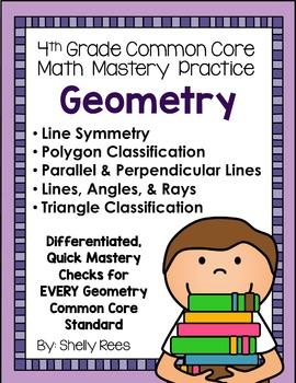 Geometry Fourth Grade Common Core Math Bundle - Spiral Bound HARD COPY