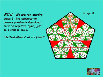 Geometry & Fractals Project - The Pentagonal Fractal Construction Process