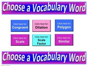Geometry-Similarity-Frayer Model Vocabulary (Vocabulary they will LIKE and USE)