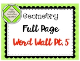 Geometry Full Page Word Wall Part 5