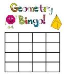 Geometry Fun Bingo Game