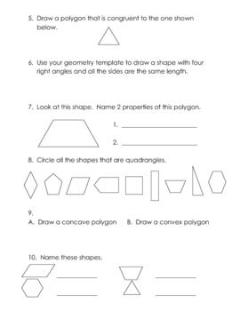Geometry Fun Worksheets