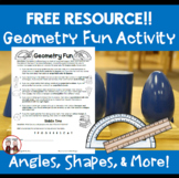FREE Geometry Fun for Students Activity: Angles, Shapes, Degrees