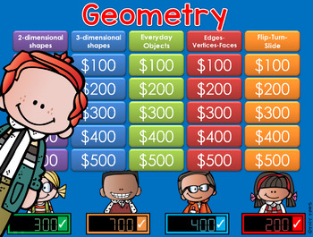 Geometry Jeopardy Style Game Show
