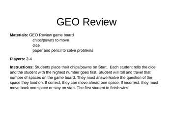 Geometry - GEO Review