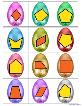 Easter Math Game - Geometry