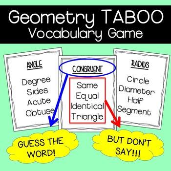 Geometry Game: TABOO