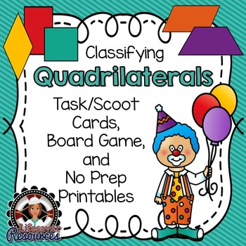 Geometry Game - Printable Worksheets  - Classifying Quadrilaterals