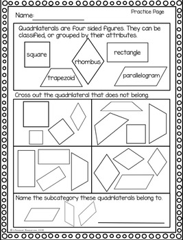quadrilaterals worksheet geometry kidz activities. Black Bedroom Furniture Sets. Home Design Ideas