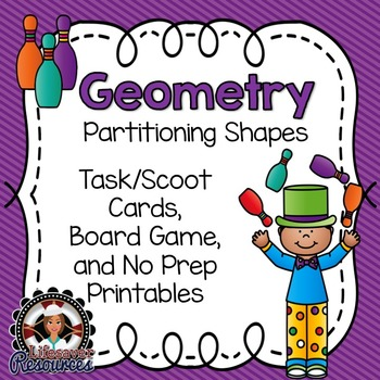 Geometry  - Partitioning Shapes - Unit Fractions