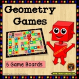 Geometry Games with Quadrilaterals, Plane Figures, Lines,