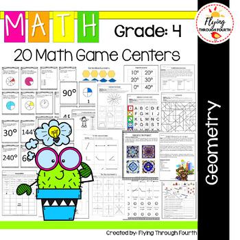 Geometry Math Centers {4.G.1, 4.G.2, 4.G.3, 4.MD.5, 4.MD.6