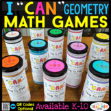 Geometry Games | Math Centers | Test Prep Review
