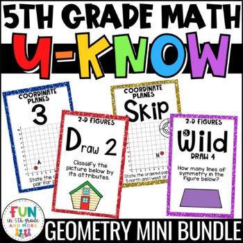 Geometry Games | U-Know Geometry Review Games MINI Bundle {5th Grade}