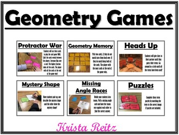 Geometry Games {lines, angles, protractor}