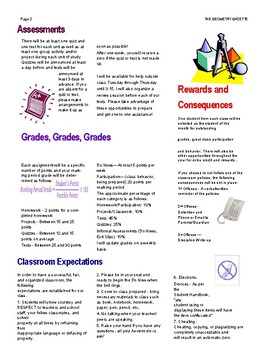 Geometry Gazette Syllabus
