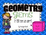 Geometry Gems {BUNDLED}: a 2D & 3D shape unit aligned with