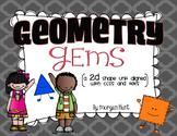 Geometry Gems: a 2D Shape Unit Aligned with CCSS & TEKS