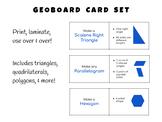 Geometry Geoboard Problem Card Set