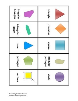 Geometry Go Fish and Memory game