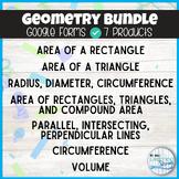 Geometry Google Forms Bundle