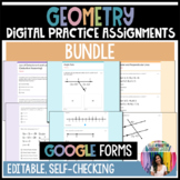Geometry GOOGLE Forms Practice Assignments Growing Bundle