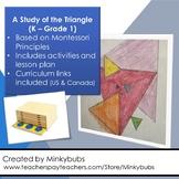 Montessori Geometry Kindergarten Grade 1 triangle activities & lesson plan