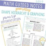 Geometry, Graphing, and Shape Hierarchy Guided Math Notes